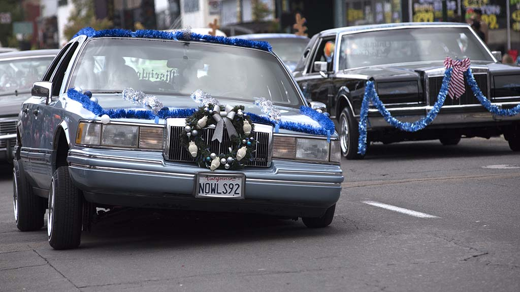 Lowrider cars got cheers from the crowds along the parade route in North Park.