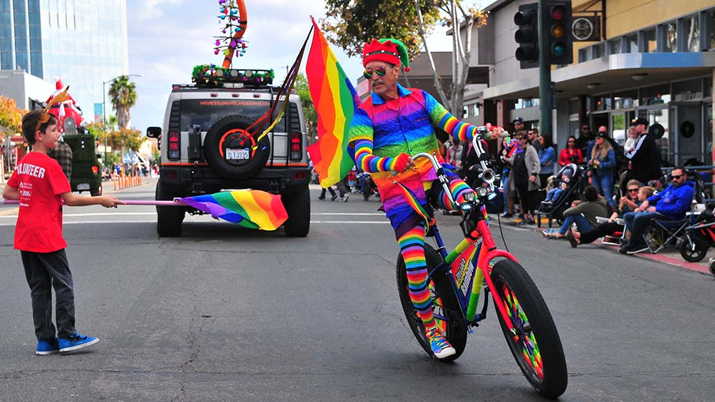San Diego Pride colorfully participated in the parade.