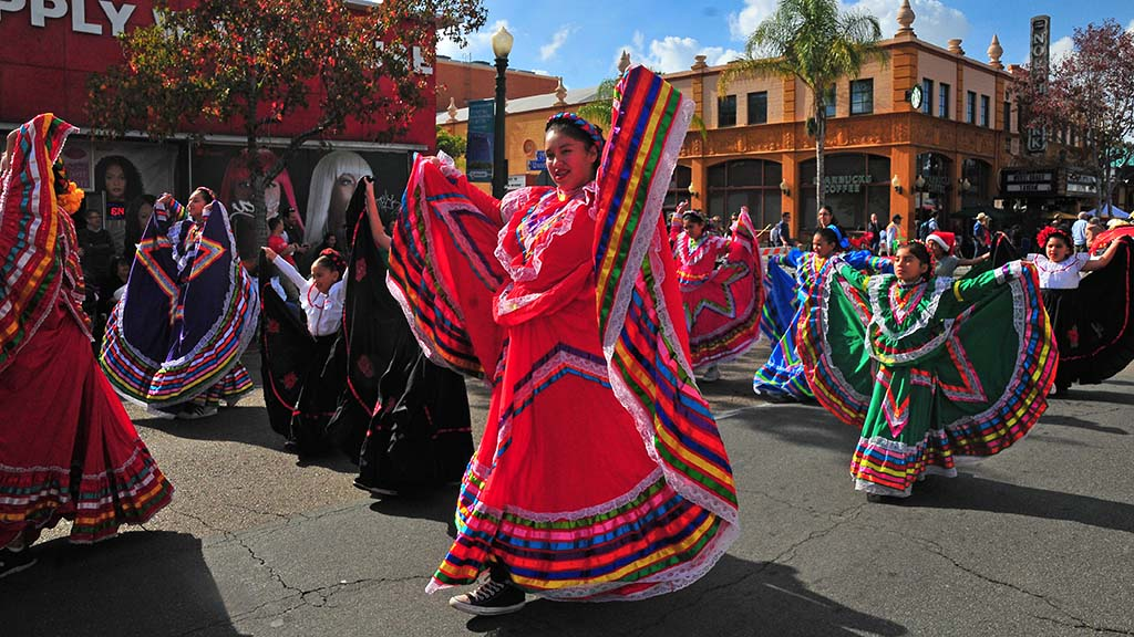 Members of the Gift of Dance were a colorful entry in the North Park's Toyland Parade.