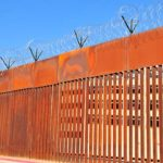 New, taller border fence sections were installed recently.