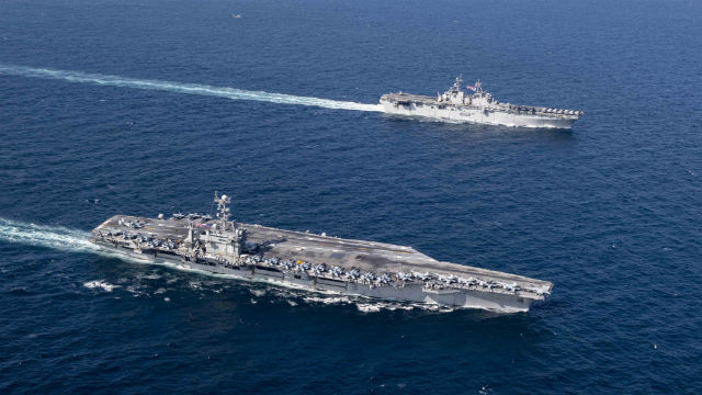 USS Exxes and USS John Stennis