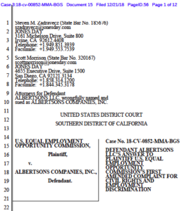 Albertsons' response to EEOC lawsuit (PDF).