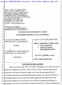 EEOC's latest lawsuit against Albertsons. (PDF)