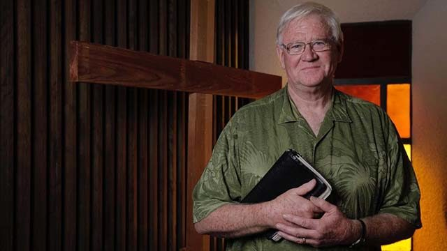Pastor John McFarland in December 2017.