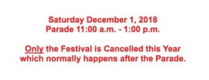 Small print at bottom of toylandparade.com says only the festival is canceled.