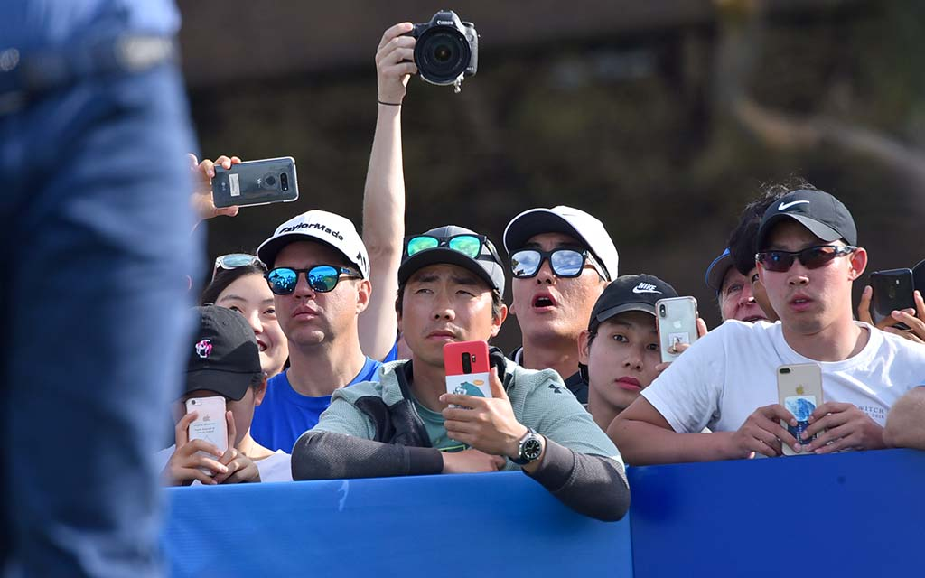 Cameras came out for the PGA pros on Day 1 of the Farmers Insurance Open.