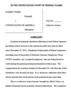 Albert Vieira lawsuit against federal government