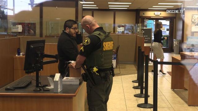 Sheriff's deputy gathers evidence