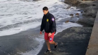 Coastal flooding in Mission Beach
