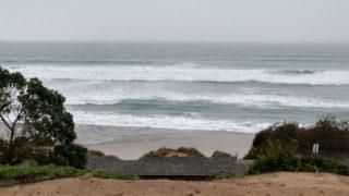 Breakers off Del Mar bluffs