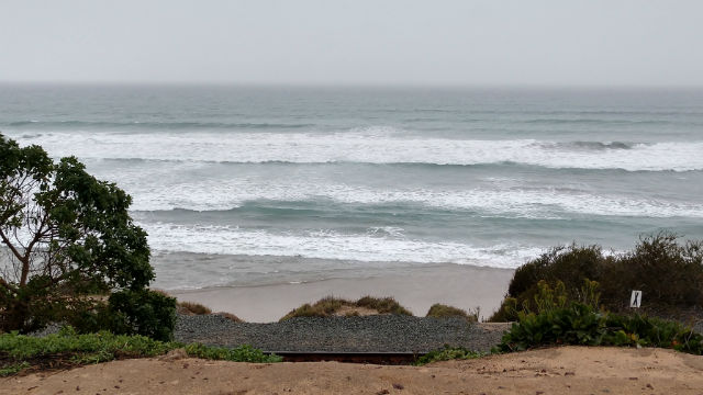 Breakers off Del Mar bluffs