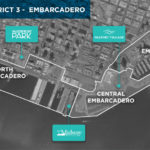 Planning areas on the embarcadero downtown