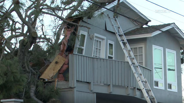Point Loma Heights home damaged by falling tree