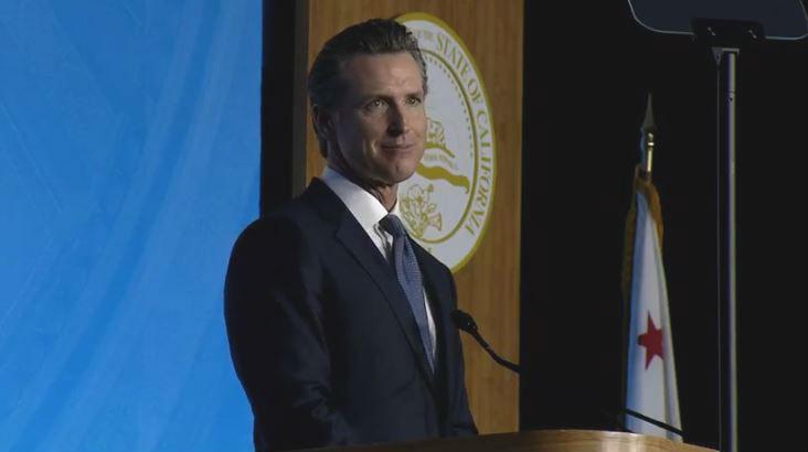 Gov. Gavin Newsom at his inauguration