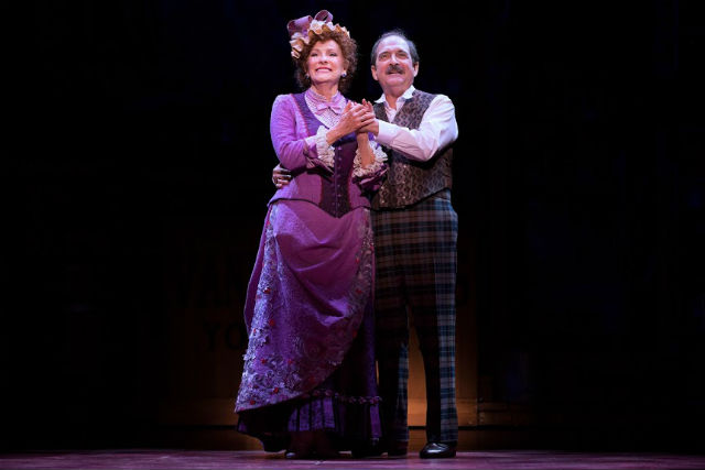 "Betty Buckley and Lewis J. Stadlen in ""Hello Dolly!"""