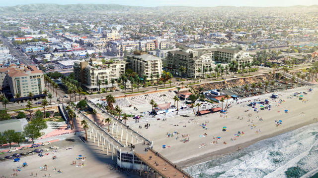 Architects rendering of the two hotels planned for Oceanside