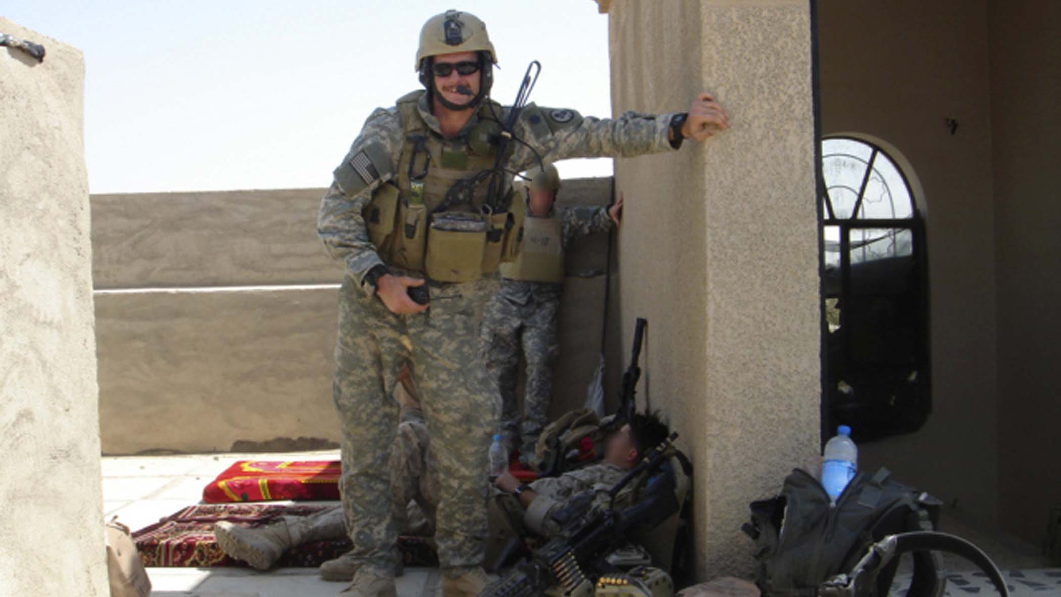 Petty Officer Michael Monsoor in Iraq.