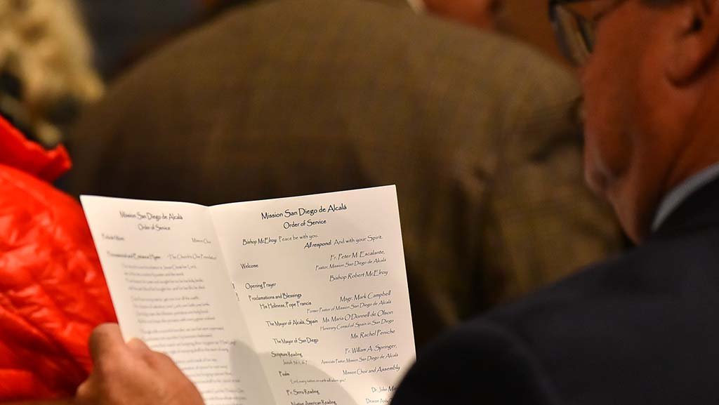 The service included a message from Pope Francis, a leter from the mayor of Alcal, Spain and a city proclamation delivered by Mayor Kevin Faulconer.