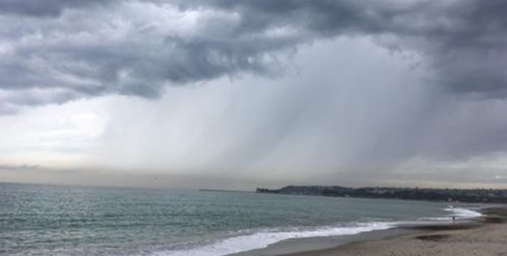 Rain in San Diego on Wednesday morning