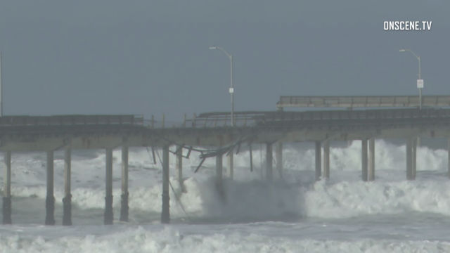 Damaged Ocean Beach Pier
