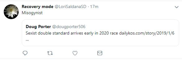 Deleted tweet by Lori Saldana saved as a screen shot by Doug Porter.