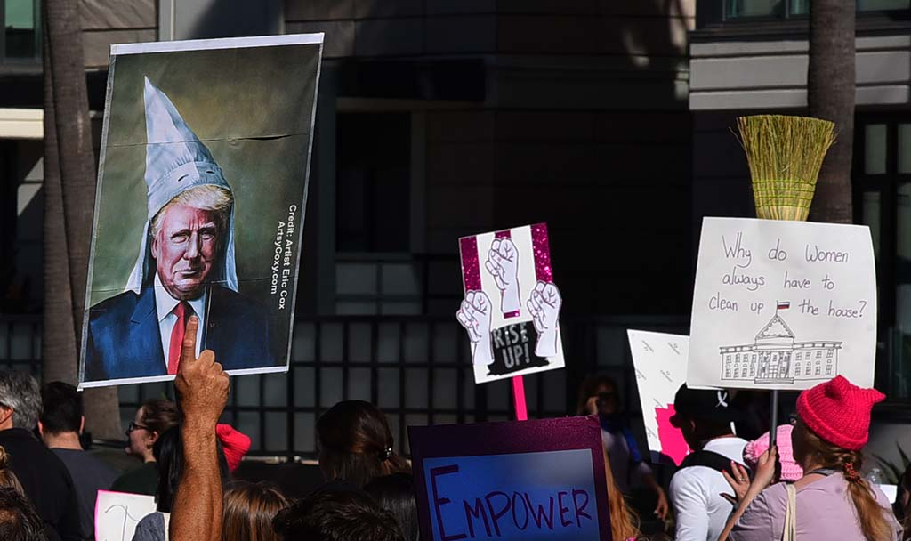 Many marchers brought signs for their participation in the Women's March San Diego.