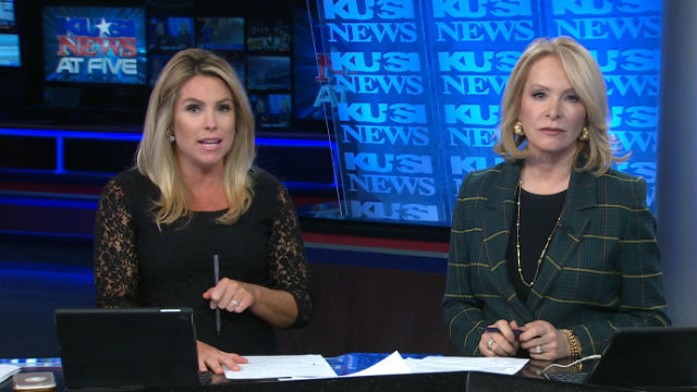 KUSI anchors Anna Laurel and Sandra Maas