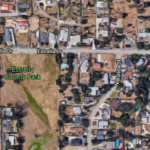 Area of Spring Valley where sinkhole developed on Estrella Drive.