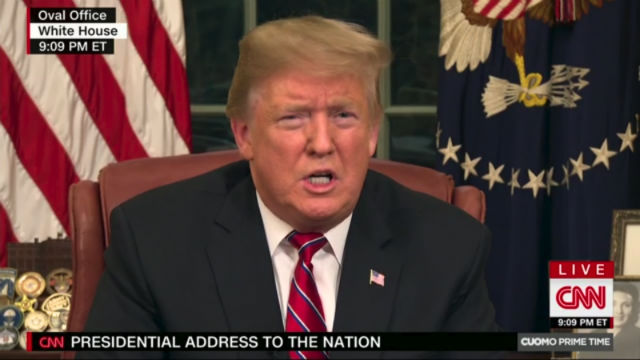 President Trump addresses the nation