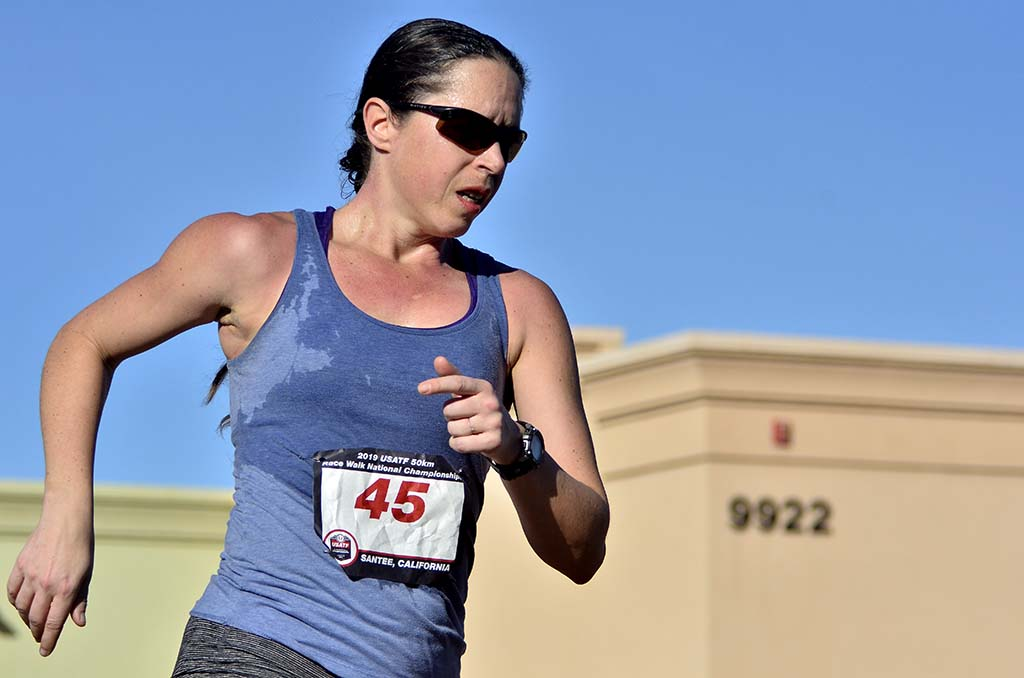 Women's 50K pioneer Erin Taylor-Talcott, suffering the effects of a weeklong bout of strep throat, had to quit after 11 miles.