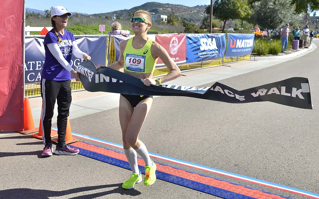 Claire Tallent finishes 50K and wins $2,000 in Waterbridge Capital International 50km Challenge.