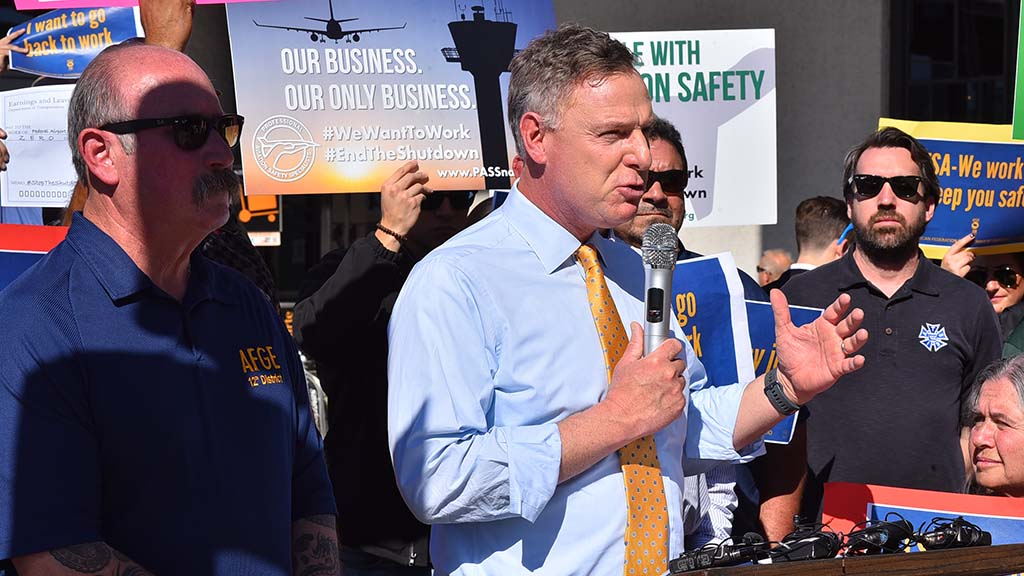 "Rep. Scott Peters says: ""This shutdown hurts all Americans by shuttering agencies and programs that are key to our safety. The FBI, the Coast Guard, Homeland Security, our diplomats and other employees are all compromised."""