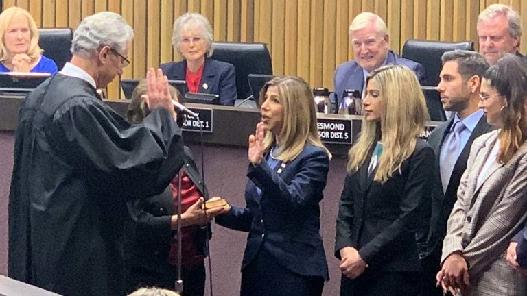Summer Stephan is sworn in as San Diego County district attorney.