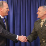 Mayor Kevin Faulconer and Maj. Gen. Vincent Coglianese