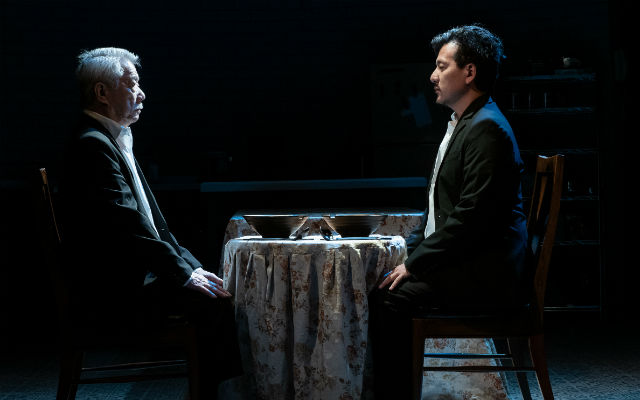 "Dana Lee and Brian Kim as father and son in ""Aubergine"""