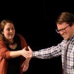 """Michelle Marie Trester and Andrew Gumm in """"Dancing Lessons"""" at Scripps Ranch Theatre"""