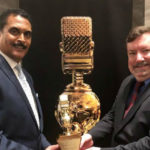 Phil Farrar and Kevin Finnerty with their award