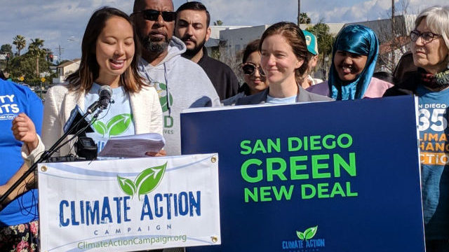 """Environmental activists announce """"Green New Deal"""" for San Diego"""