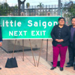 Sign announcing Little Saigon exit
