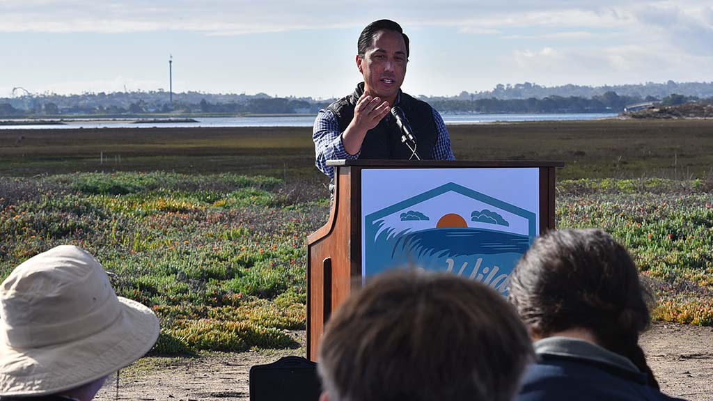 Assemblyman Todd Gloria spoke of state environmental efforts.