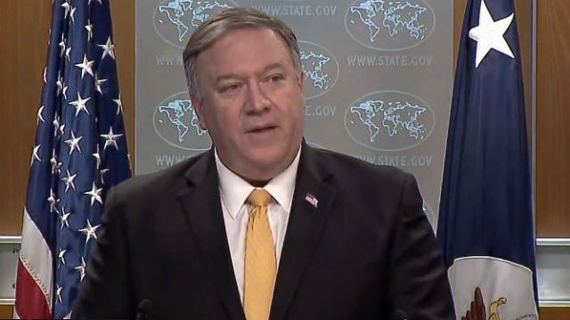 Secretary of State Mike Pompeo announces U.S. withdrawal from the INF treaty