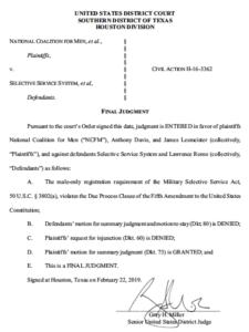 Judge Miller's order