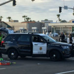 Officers investigate the accident