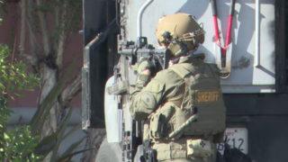 A sheriff's SWAT team member