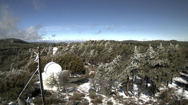 Snow accumulation at Mt. Laguna Observatory