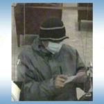 Surveillance photo of the suspected bank robber
