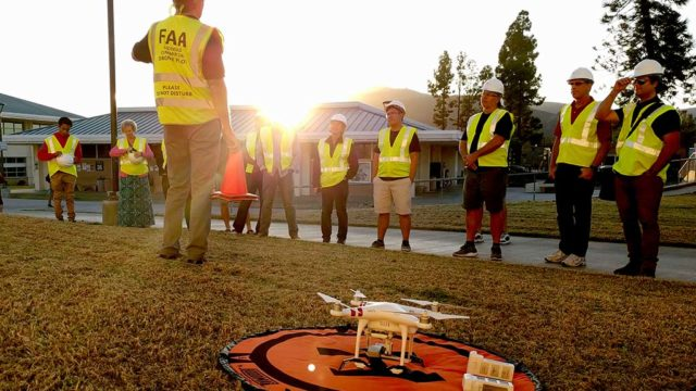 Two types of drone-pilot training are being offered — surveying/mapping and cinematography.