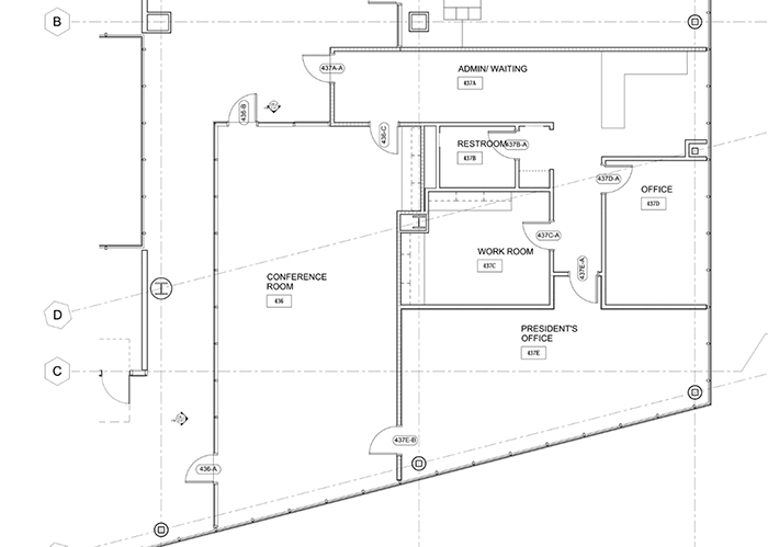 Above is the floor plan for Palomar College President Joi Lin Blake's new office suite.