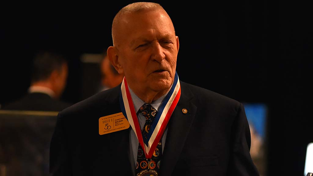 """Gene Kranz, flight director of many Apollo missions, told Times of San Diego: """"Mars has distracted the nation from going back to the moon. ... There's a lot to be learned before we even consider going to Mars."""""""