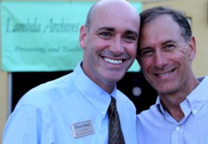 Kevin Beiser (left) and husband Dan Mock.